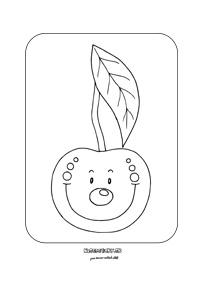Čerešňa - omaľovánka