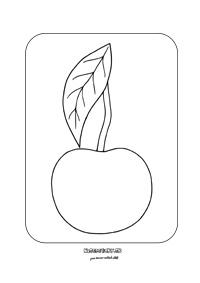 Čerešňa - omaľovánka pre deti