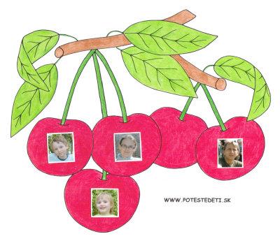 Čerešne - omaľovánka