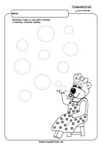 Bublifuk - grafomotorika - pracovné listy pre deti
