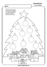 Vianočný stromček - grafomotorika - pracovné listy pre deti