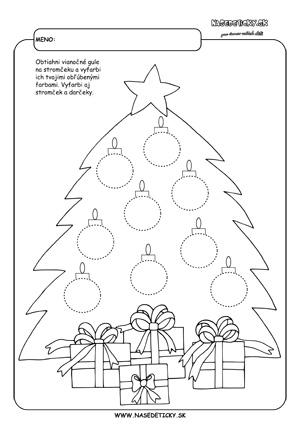 Vianoce - grafomotorika pre deti
