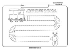 Vláčik - grafomotorika - pracovné listy pre deti