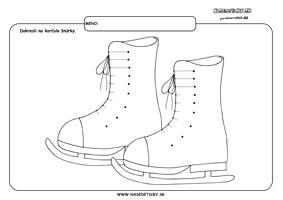 Korčule - grafomotorika - pracovné listy pre deti