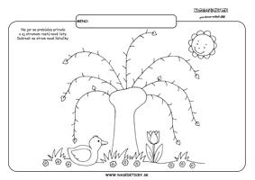 Listy - grafomotorika - pracovné listy pre deti