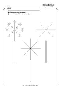 Silvester - prskavky - grafomotorika - pracovné listy pre deti