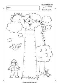 Rebrík - grafomotorika - pracovné listy pre deti