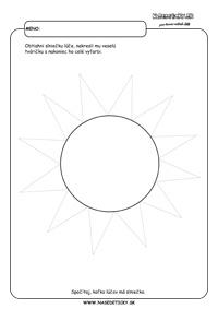Slnko - grafomotorika - pracovné listy pre deti