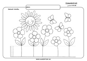 Tráva - grafomotorika - pracovné listy pre deti