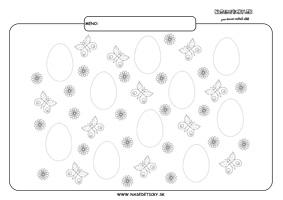 Vajíčka - Veľká noc - grafomotorika - pracovné listy pre deti