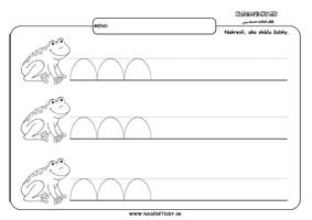 Žabka - grafomotorika - pracovné listy