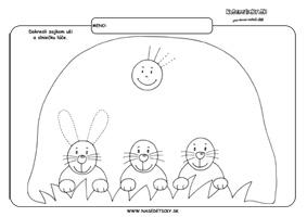 Zajačik - grafomotorika - pracovné listy pre deti