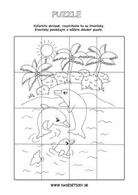 Delfíny - puzzle
