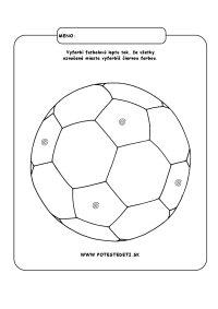 Futbalová lopta - omaľovánka