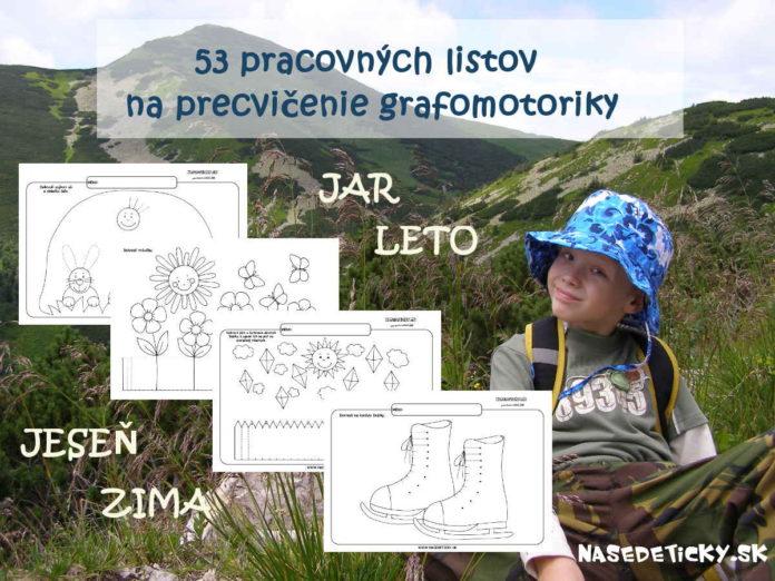 Grafomotorika - pracovné listy pre deti