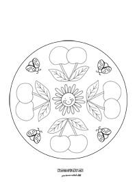 Mandala - čerešne