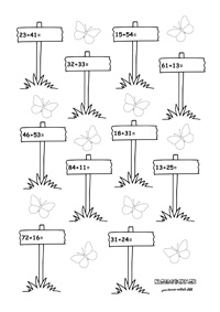 Pracovné listy z matematiky pre druhákov