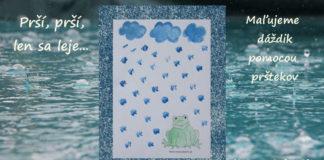 Maľujeme dážď - aktivity pre deti