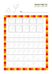 Písané písmenká - pracovné listy pre prvákov