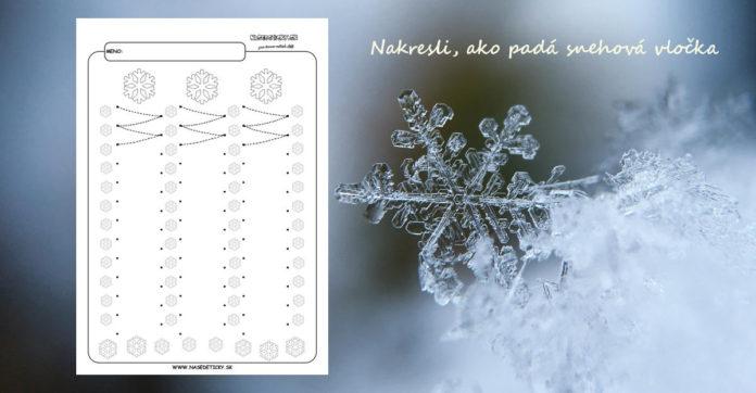 Snehové vločky - grafomotorika - pracovné listy pre deti