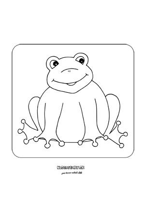 Žabka - omaľovánka