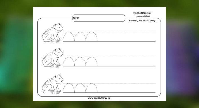 Žabky - grafomotorika - pracovné listy