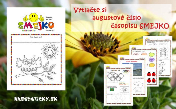 Časopis Smejko - časopis pre deti ZADARMO