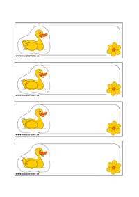 Kačička - menovky pre deti