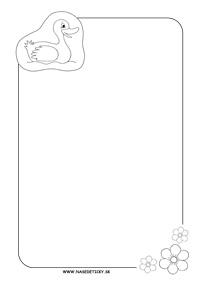 Listový papier s kačičkou bez riadkov