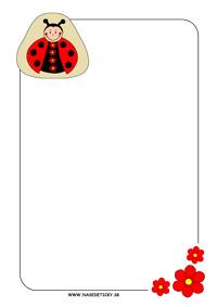 Lienka - listový papier pre deti