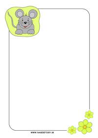 Myška - listový papier