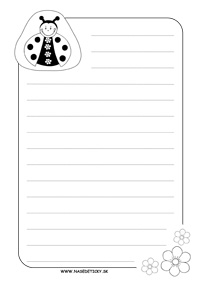 Listový papier pre deti - lienka