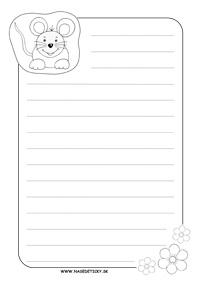 Listový papier - myška