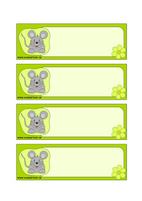 Myška - menovky pre deti