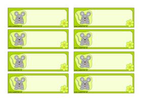 Menovky pre deti - myška