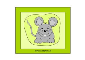 Myška - farebný obrázok pre deti