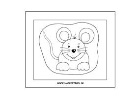 Myška - omaľovánka pre deti