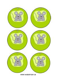 Myška - medaila alebo menovka na zavesenie na krk