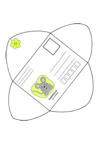 Obálka pre deti s myškou