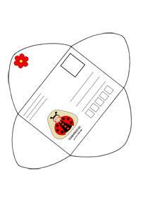 Obálka na vytlačenie s lienkou