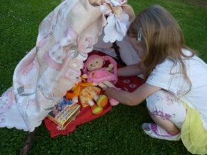 Záhradný domček pre bábiku