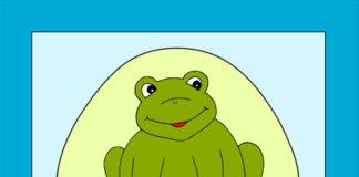 Žabka - obrázok pre deti