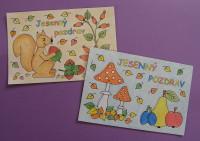 Jesenné pohľadnice pre deti