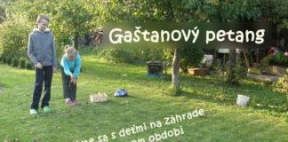 Gaštanový petang - jesenné hry s deťmi na záhrade