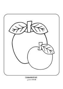 Jablko - omaľovánka