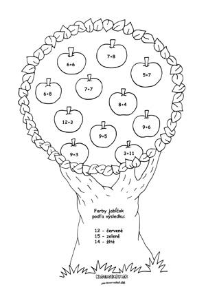 Matematika - jesenné pracovné listy - pre druhákov