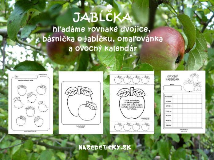 Jablko - aktivity pre deti