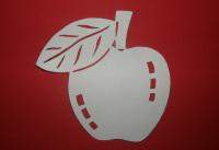 Jablko - vystrihovačka na okno