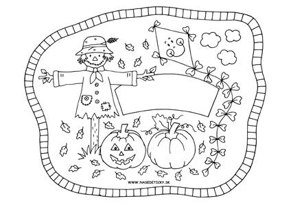 Jesenná menovka pre deti