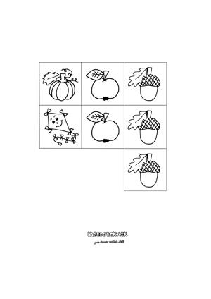 Jesenné detské obrázkové sudoku